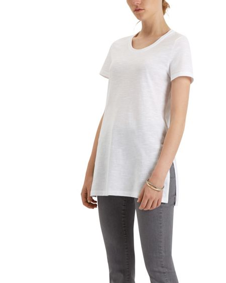 Jaeger Cotton Jersey Side Split Tunic