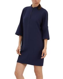 Jaeger Crepe Dropped Shoulder Dress