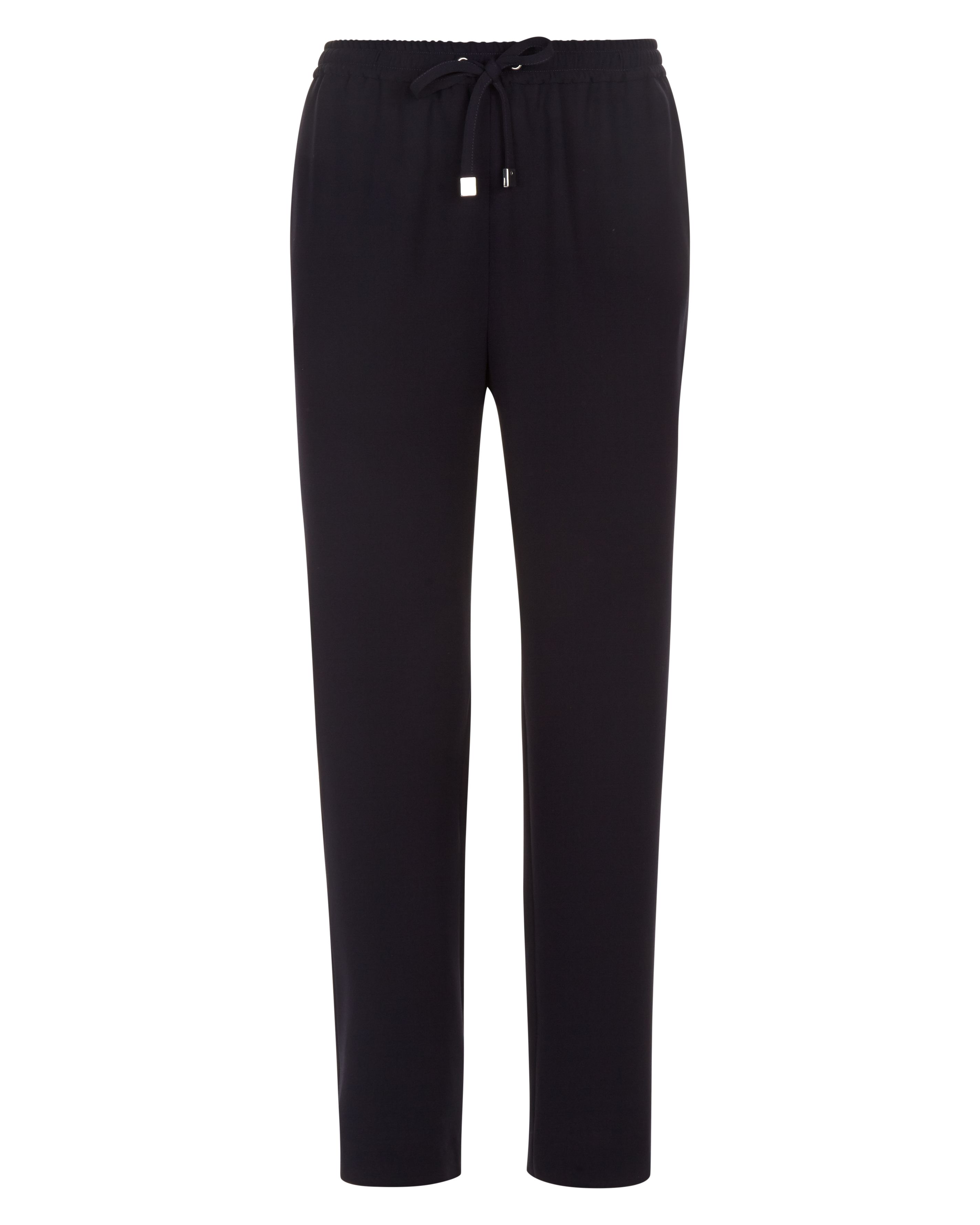 Jaeger Crepe Drawstring Trousers, Blue