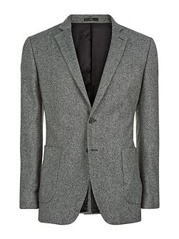 Salt-and-Pepper Slim Jacket