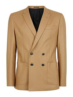 Wool Camel Slim Jacket