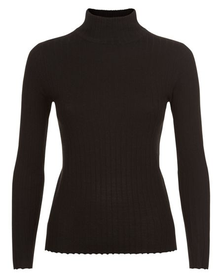 Jaeger Wool Turtleneck Sweater