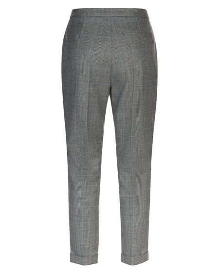 Jaeger Wool Prince of Wales Trousers