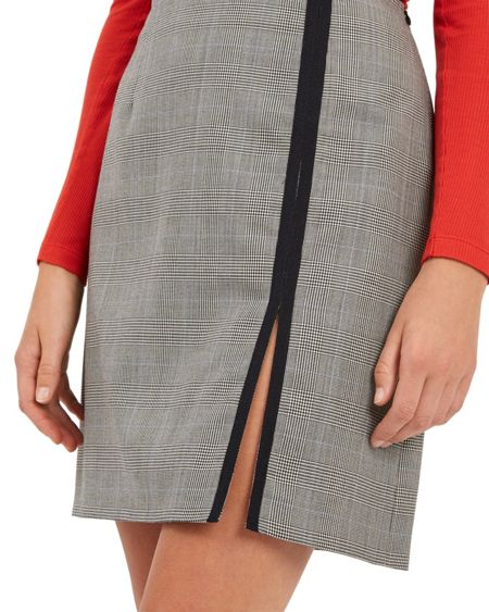 Jaeger Wool Prince of Wales Skirt