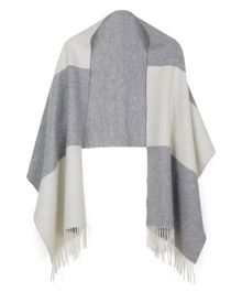 Jaeger Wool Block Stripe Wrap
