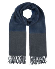 Jaeger Wool Houndstooth Scarf