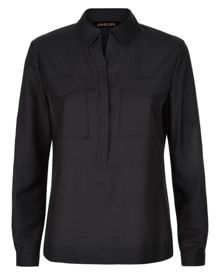 Jaeger Cotton Silk Pocket Shirt