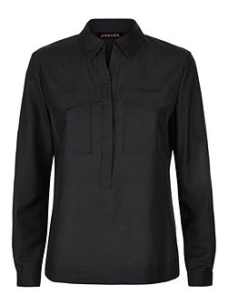 Cotton Silk Pocket Shirt