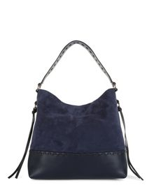 Jaeger Suede Stitch Detail Hobo Bag