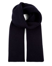 Jaeger Wool Ribbed Scarf