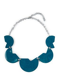 Resin Cut-Out Disc Necklace