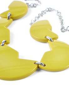 Jaeger Resin Cut-Out Disc Necklace