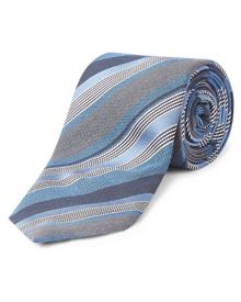 Jaeger Silk Multi-Stripe Tie