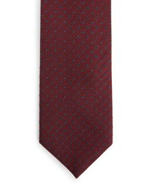 Jaeger Silk Textured Diamond Dot Tie