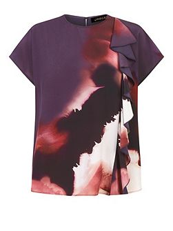 Silk Winter Watercolour Top