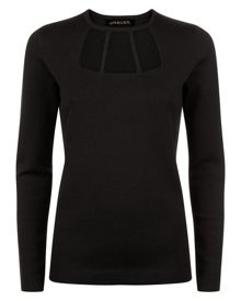 Jaeger Cut-Out Detail Sweater