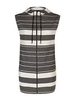 Cotton Jersey Stripe Gilet