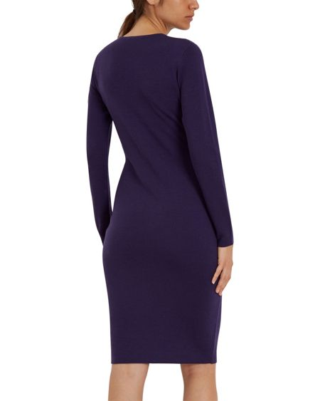 Jaeger Wool Cut-Out Sweater Dress