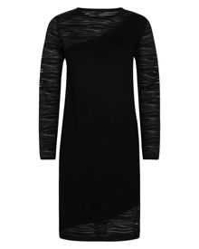Jaeger Lace Knitted Panelled Dress