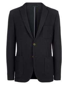 Jaeger Boiled Wool Jersey Jacket