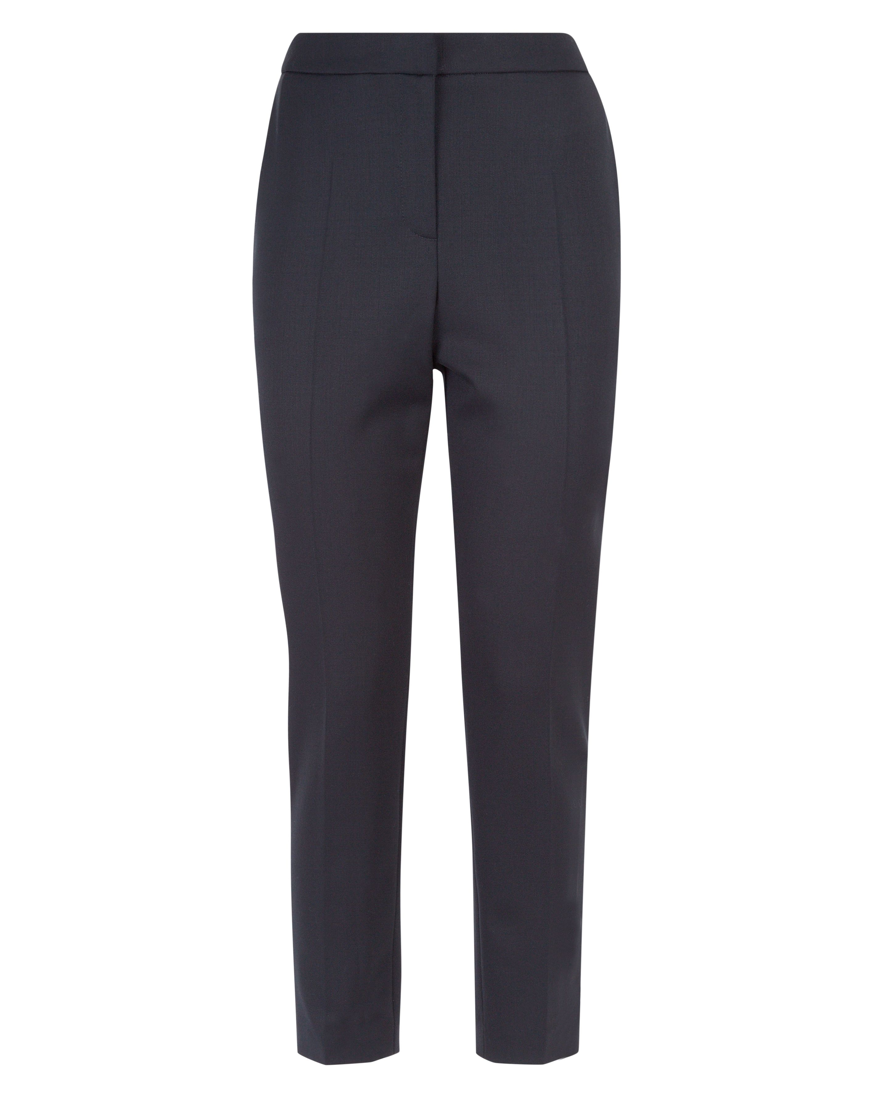 Jaeger Wool Cigarette Trousers, Black