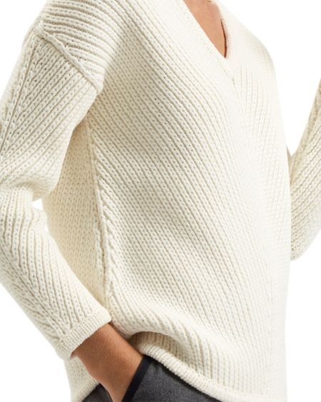 Jaeger Chevron Ribbed Sweater