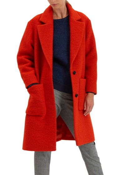Jaeger Boiled Wool Patch Pocket Coat
