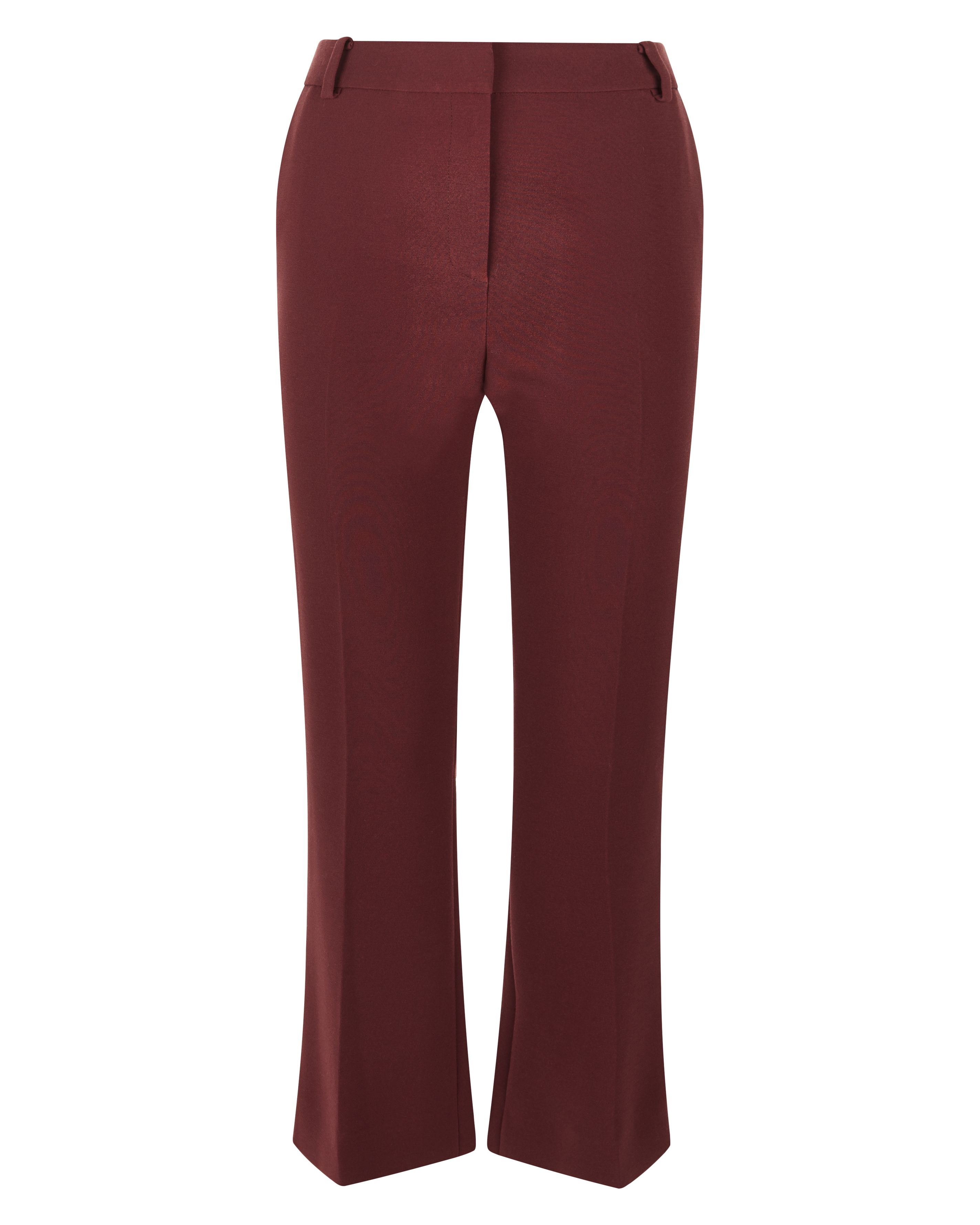 Jaeger Laboratory Kick Flare Trousers, Red