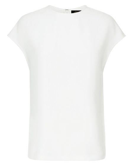 Jaeger Crepe Split Back Top