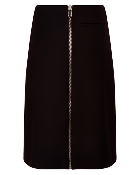 Jaeger Laboratory Zip-Front Skirt