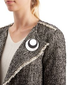 Jaeger Layered Resin Disc Brooch