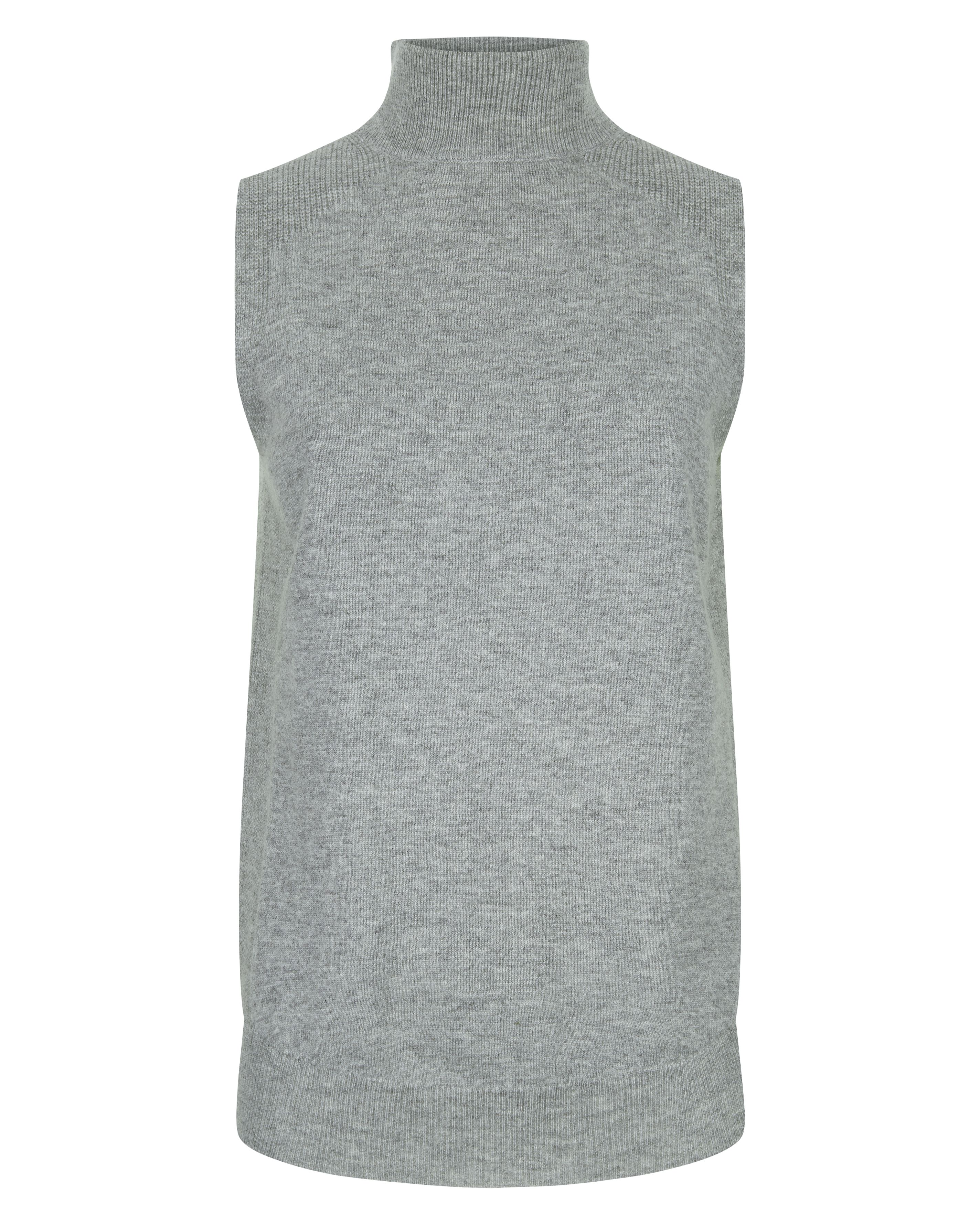 Jaeger Wool Cashmere Turtleneck Top, Grey
