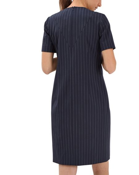 Jaeger Wool Pinstripe Dress