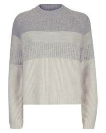 Jaeger Wool Textured Stripe Sweater