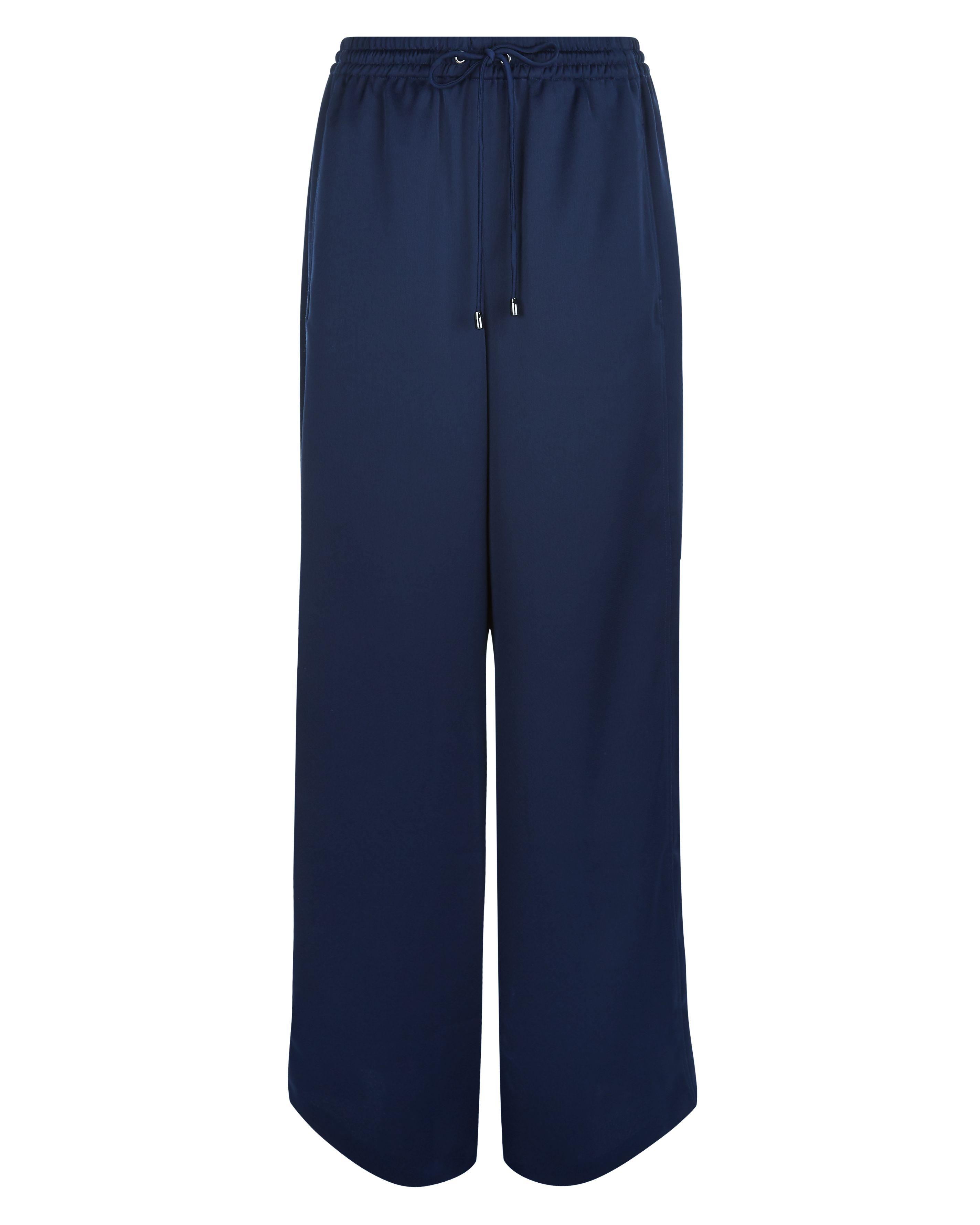 Jaeger Top-Stitch Seam Detail Joggers, Blue
