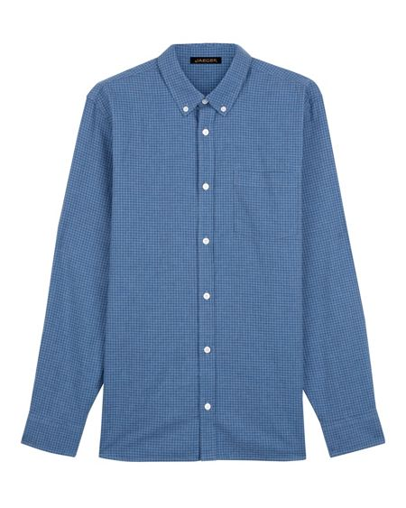 Jaeger Cotton Flannel Gingham Shirt
