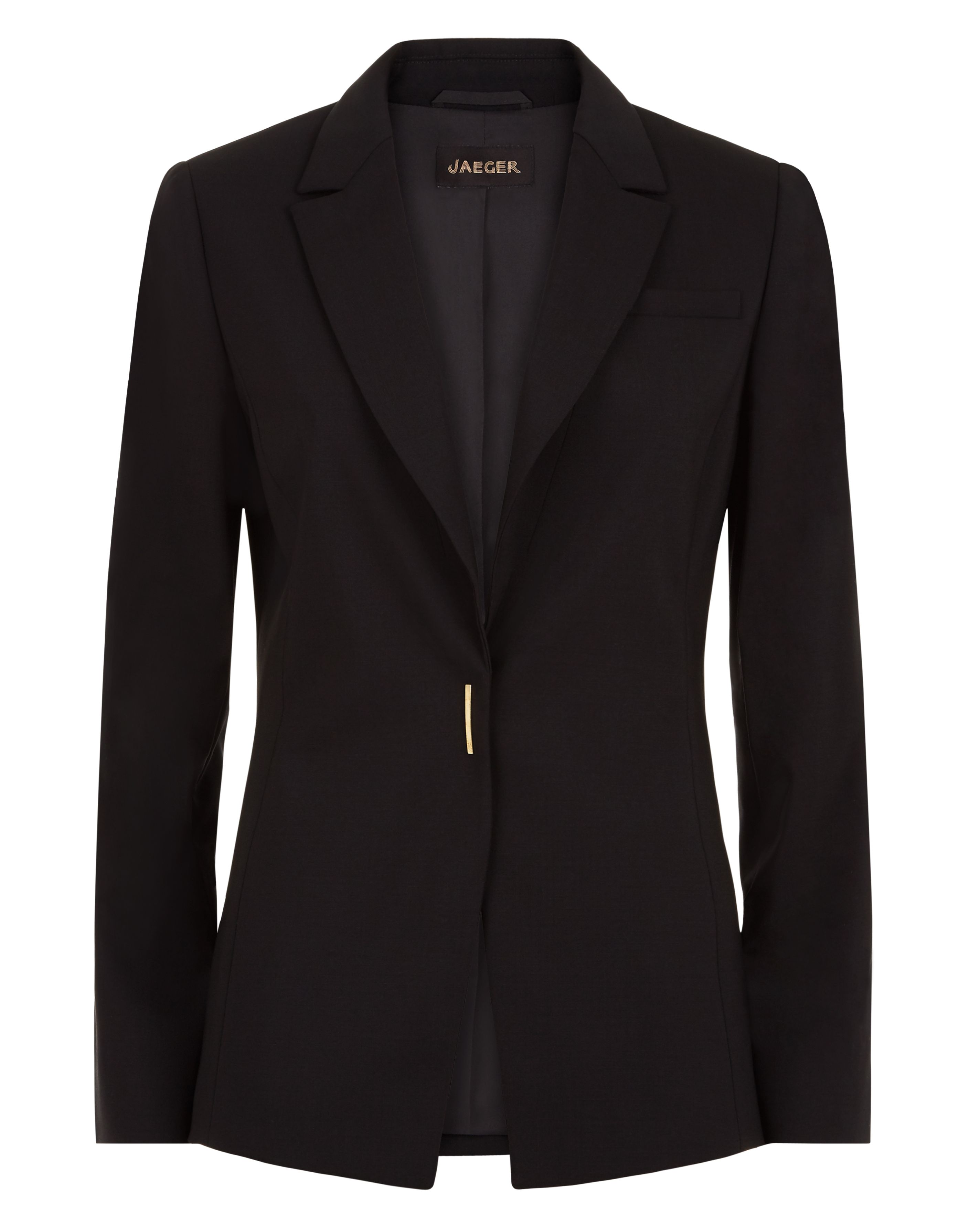 Jaeger Wool Metal Bar Snap Jacket, Black