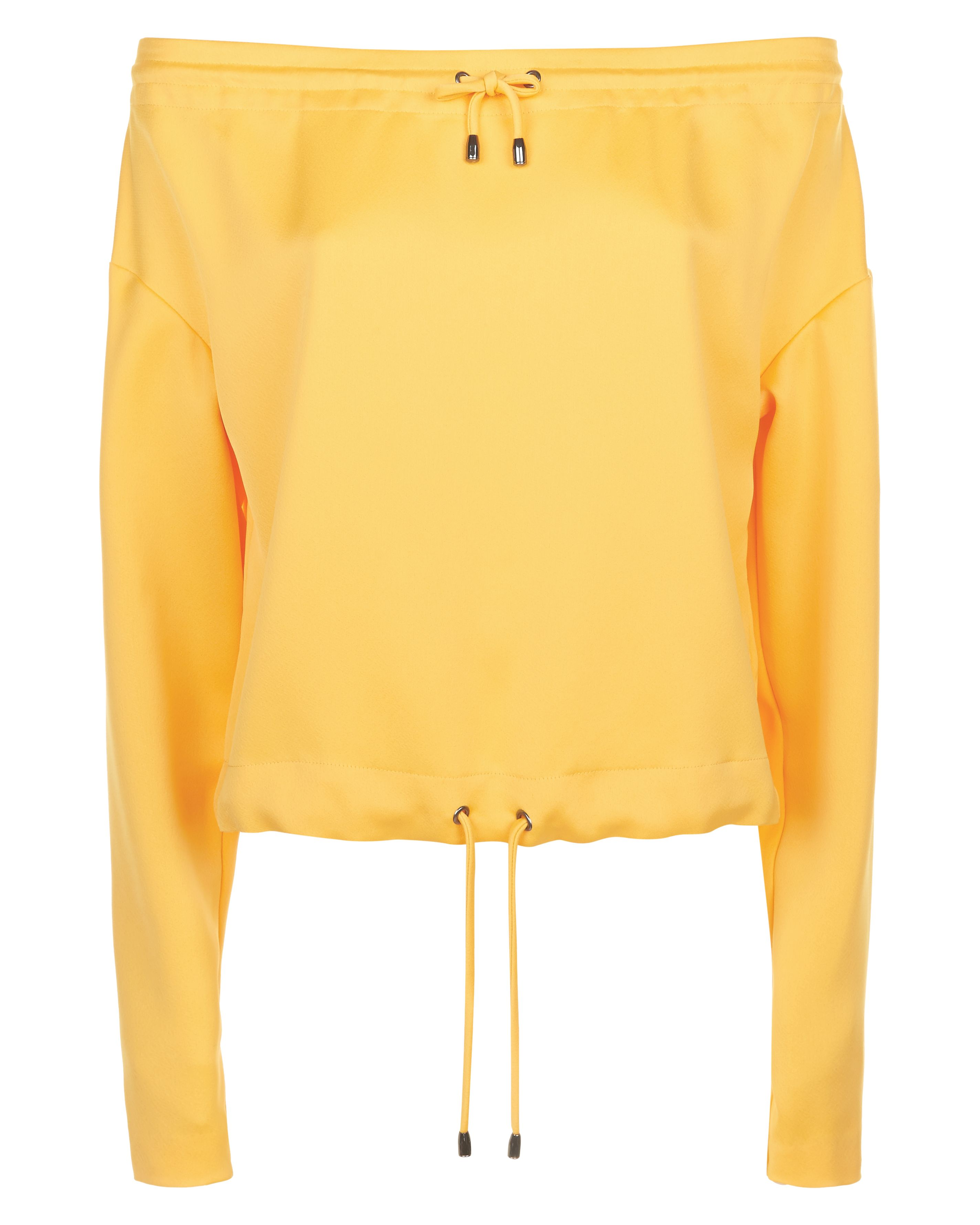 Jaeger Off-Shoulder Drawstring Top, Yellow