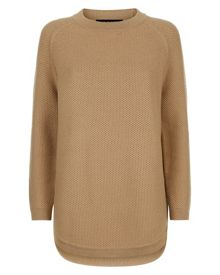 Jaeger Wool Curved Hem Sweater