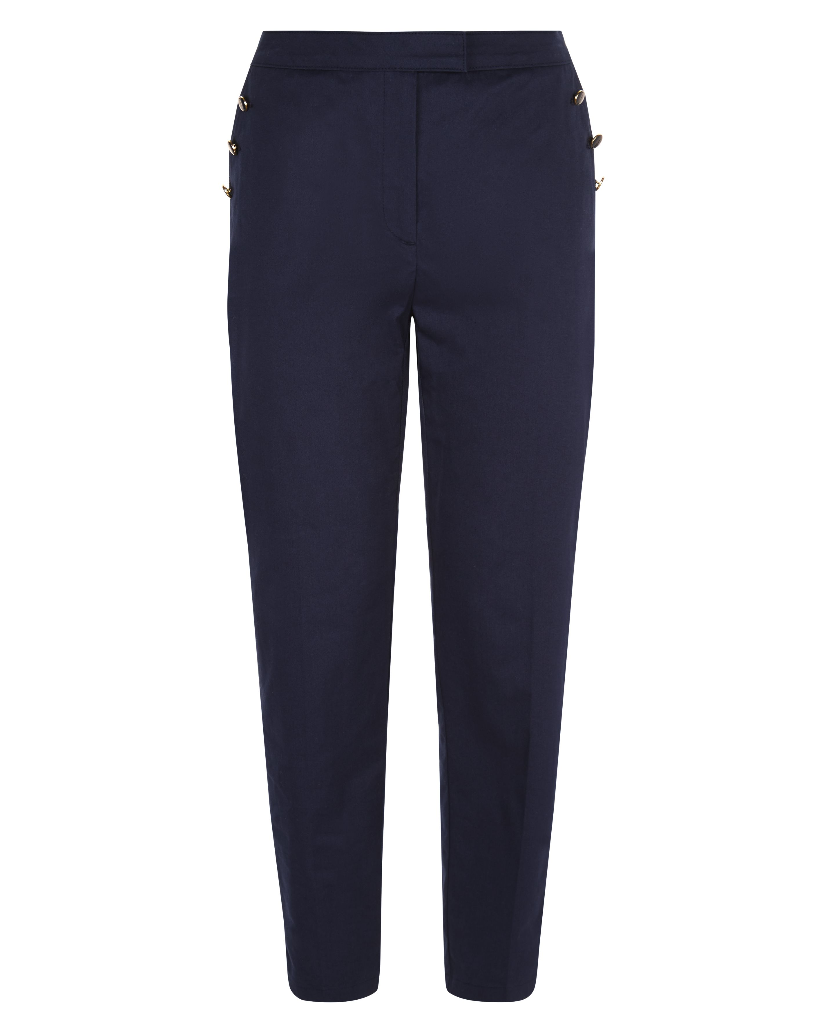 Jaeger Enamel Button Chinos, Blue