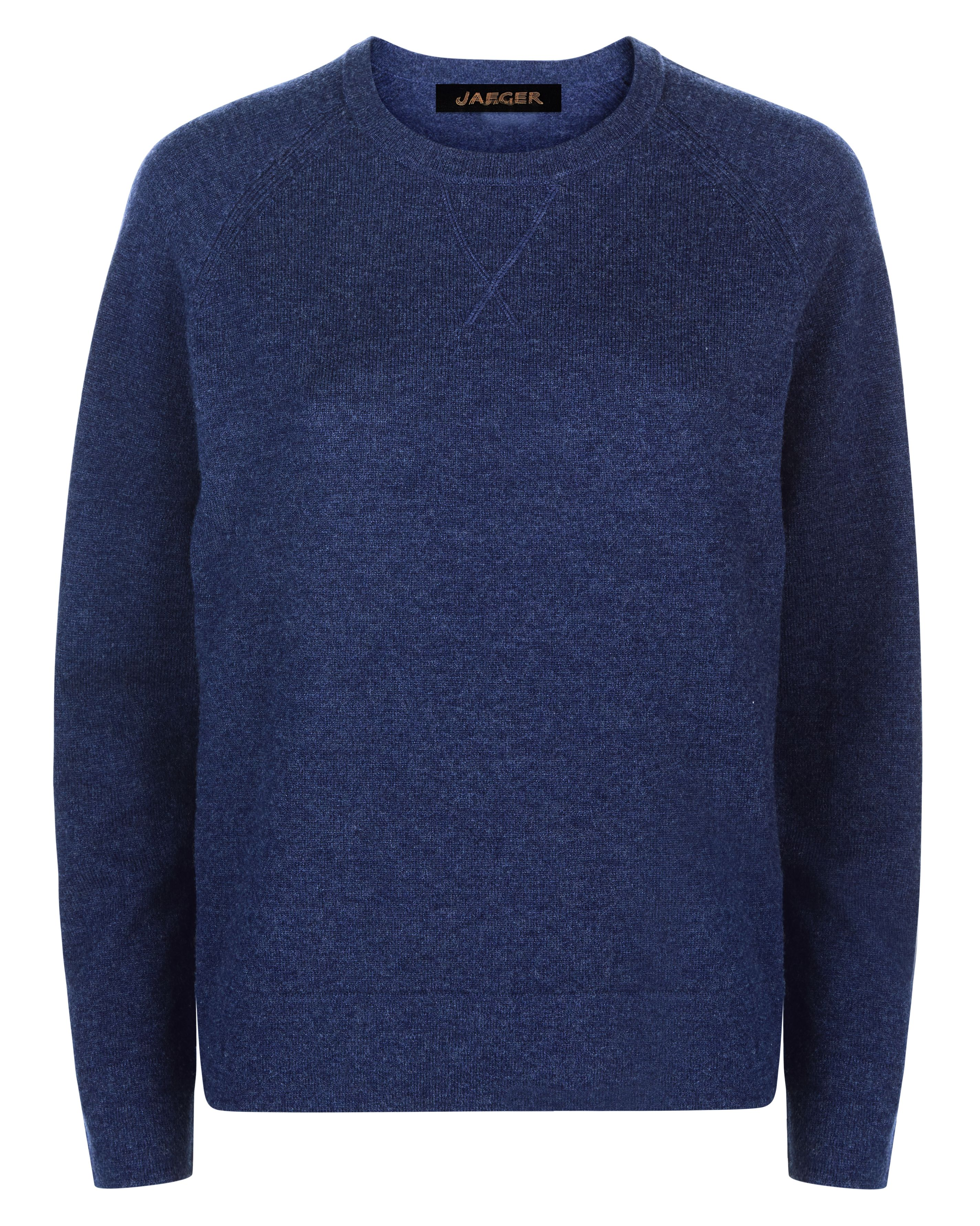 Jaeger Wool Crew Neck Sweater, Blue