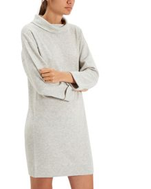 Jaeger Wool Cashmere Funnel Dress