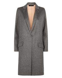 Jaeger Wool Double-Faced Angled Coat