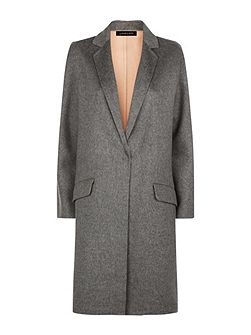 Wool Double-Faced Angled Coat