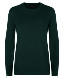 Jaeger Wool Cashmere Zip-Cuff Sweater