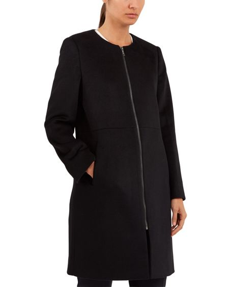 Jaeger Wool Collarless Coat