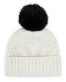 Jaeger Faux-Fur Bobble Top Beanie