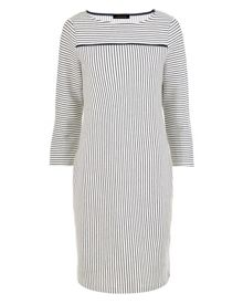 Jaeger Jersey Ottoman Stripe Dress