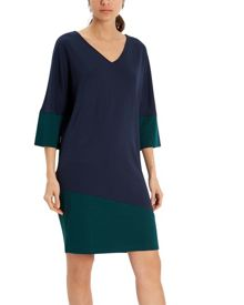 Jaeger Jersey Colour Block Dress
