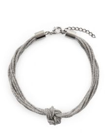 Jaeger Mesh Multi-Row Knot Necklace